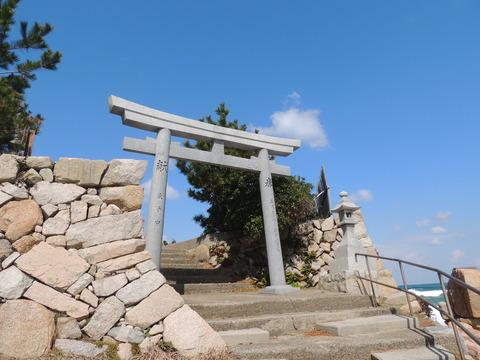 恵比寿神社 鳥居と青空