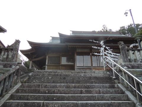 益田市 柿本神社 拝殿 狛犬