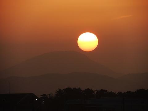 高山夕日1