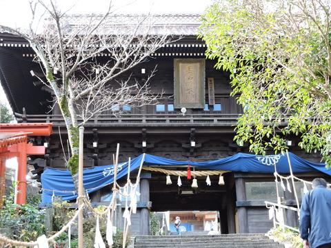高津柿本神社2015年正月楼門