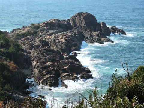 唐音の蛇岩がある唐音海岸 2015年2月14日撮影