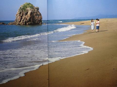 益田市 三里ヶ浜 の観音岩周辺 平成10年以前の様子