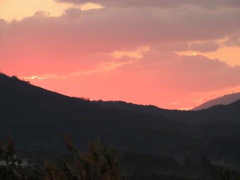 益田市 11月の夕焼けの風景