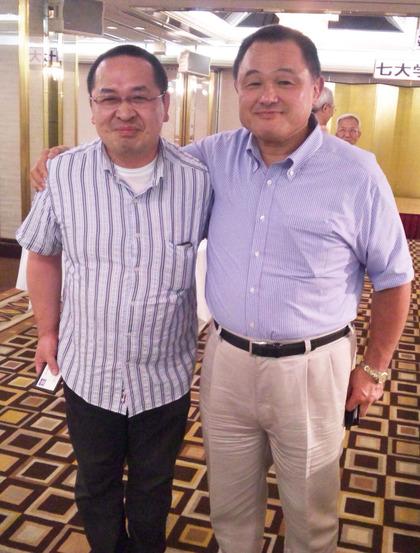 山下泰裕先生と松井隆君