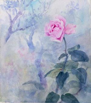 229枯草の中の薔薇