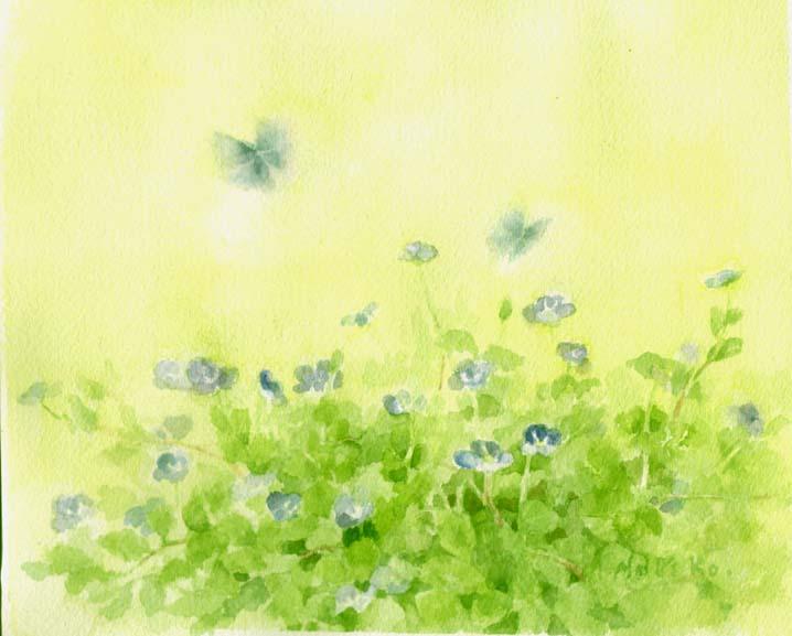 益山典子 水彩画 - milk  - ☆ Milk ☆ 平平。淡淡。也是真。
