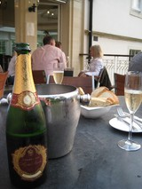 Bath hotel champagne