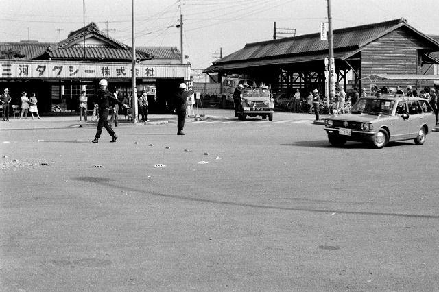 たかはまアーカイブス №114『昭和51年高浜港駅前 防災訓練』の画像