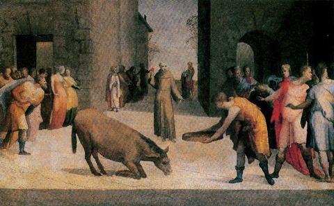 Domenico-Beccafumi-San-Antonio-and-the-miracle-of-the-mule