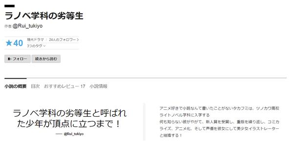 ラノベ学科の劣等生( Rui_tukiyo)   カクヨム