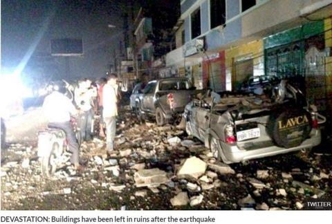 エクアドルでM7.8で死者41名、地球の裏側で熊本地震を超える被害に…