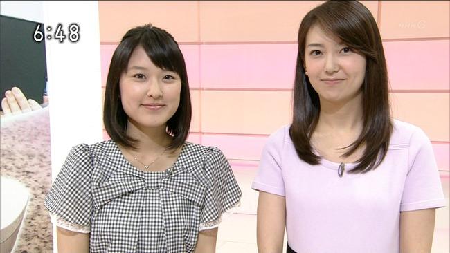 【悲報】NHKの女子アナが服を逆に着て登場… 悪質なイジメか?