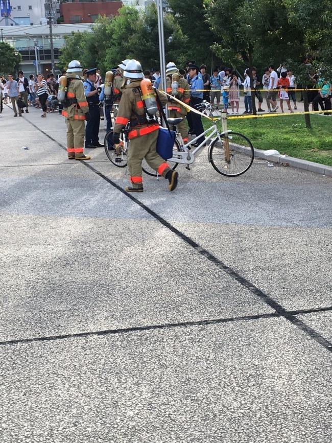 ポケモンGOプレイヤーが集まる錦糸公園で爆発物! 消防や警察が駆けつける事態に… 負傷者1名
