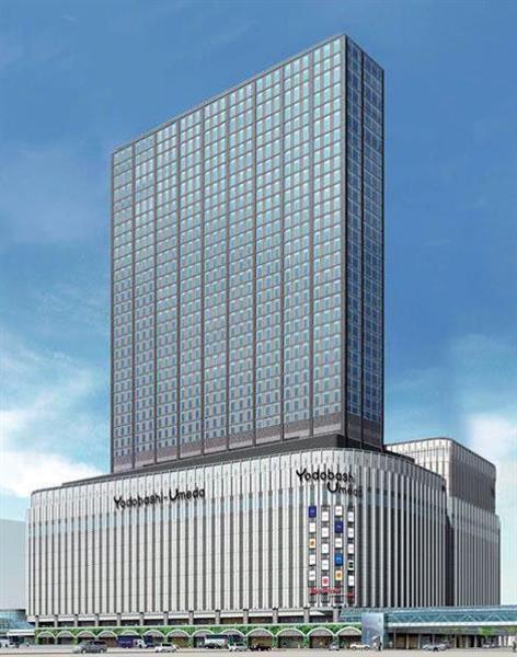 【画像あり】ヨドバシカメラ梅田、地上34階、地下4階に増築すると発表 デカすぎワロタwwwwwww
