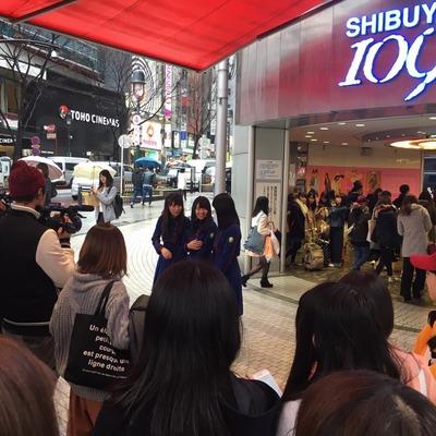 【欅坂46】ななちゃんず始動か!?渋谷109に長沢菜々香、織田奈那、米谷奈々未が現れる!