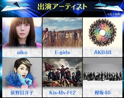 【欅坂46】1213『FNS歌謡祭2017 第2夜』に出演決定!