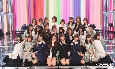 『AKB48・乃木坂46・欅坂46・IZ*ONE』のスペシャルユニット集合写真がコチラ!