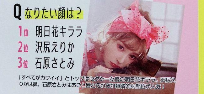【画像】明日花キララさん、なりたい顔1位に