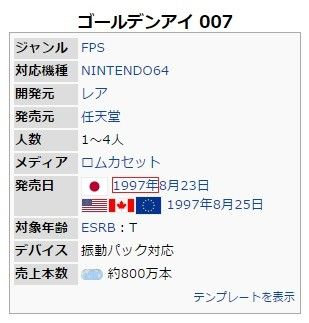 三大任天堂64の神ゲー『ゴールデンアイ』『大乱闘スマッシュブラザーズ』