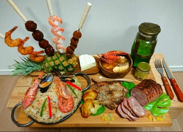 モンハンの「ハンター飯」を嫁が再現 圧倒的な出来栄えに「めちゃ美味そう」「まず嫁をハンティングしなきゃ」