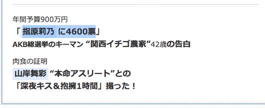 週刊文春「指原莉乃に4600票」関西イチゴ農家の告白!