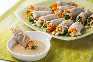 レンジ蒸しで簡単!野菜のさっぱり豚肉巻き