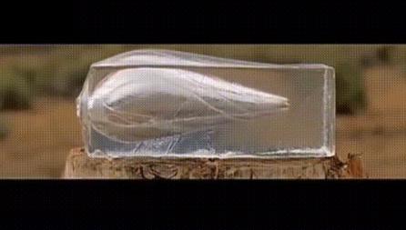【実験動画】ゼラチンに圧縮された空気が内部爆発を起こす様子