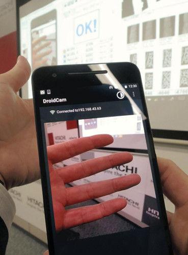 日立がスマホに指の静脈をかざして個人認証する新技術を開発
