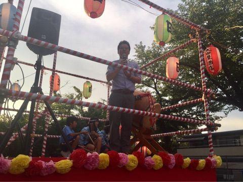 学校エアコン設置に向けて頑張ります!誉田団地自治会夏祭りに参加しました!