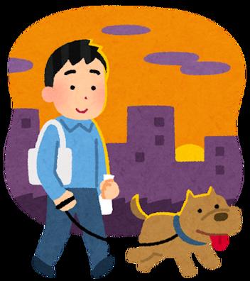 pet_dog_sanpo_yugata_man