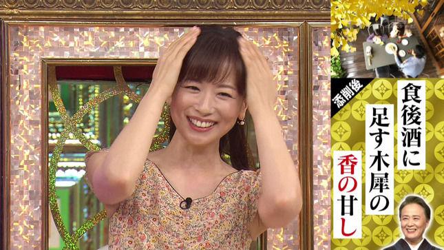 皆藤愛子アナ ノースリーブ脇!