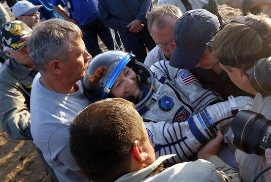 宇宙滞在最長の女性帰還 665日で記録更新