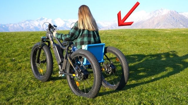 愛する彼女のために彼氏が作った、機動性バツグンの電動オフロード車椅子
