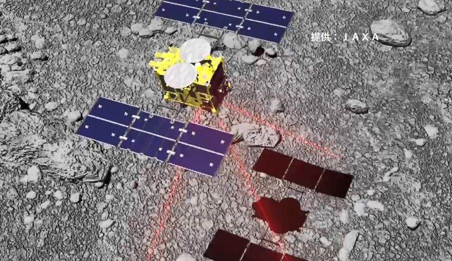 日本の探査機「はやぶさ2」、小惑星リュウグウに着陸成功