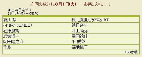 朝日奈央 8/1『踊る!さんま御殿!!』出演決定!