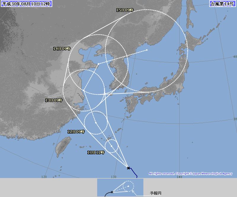 【台風14号】日本はスルーしますね……と見せかけ油断させておいてえっしゃおらあああああああ!!
