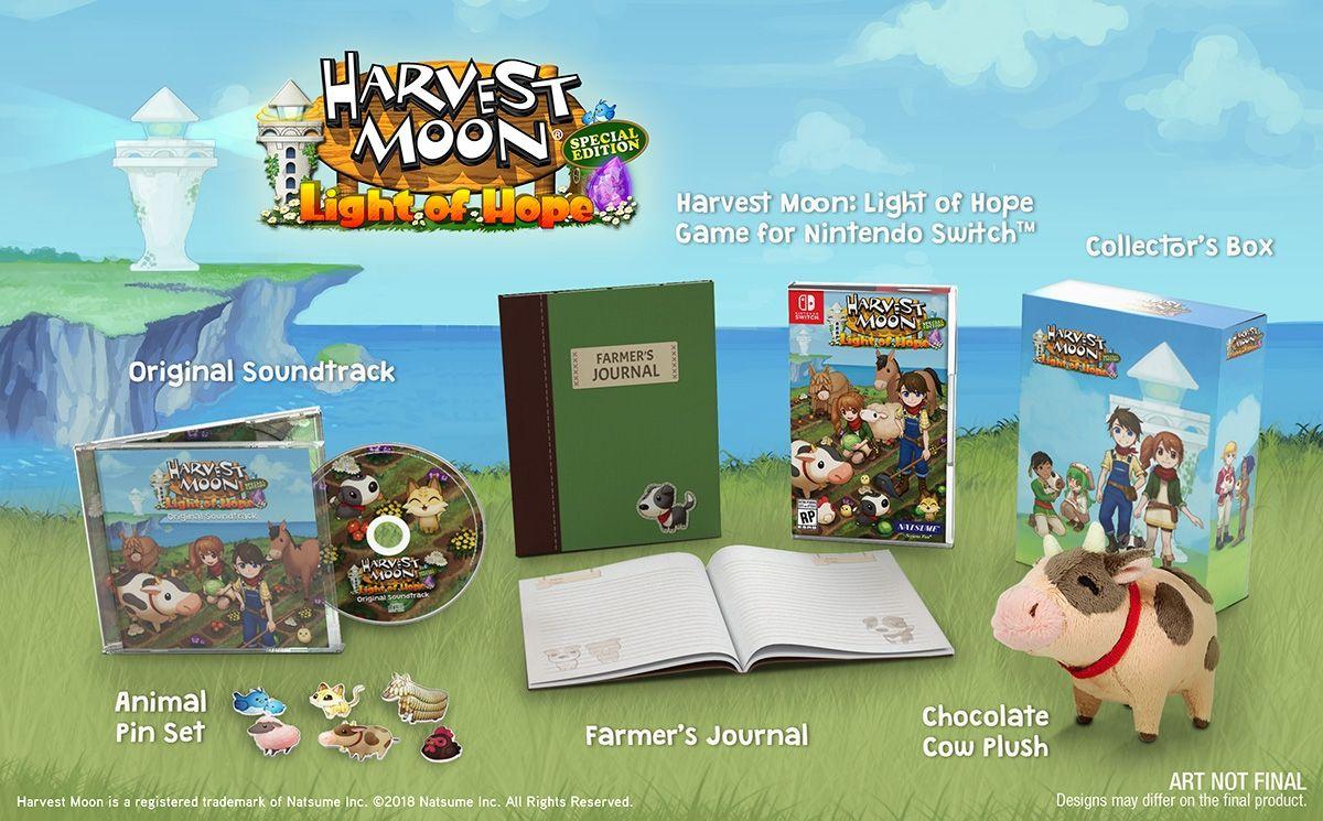 海外発の牧場物語『Harvest Moon: Light of Hope SE Limited Edition』の予約がNIS America公式通販サイトで開始!サントラなどの豪華特典付!