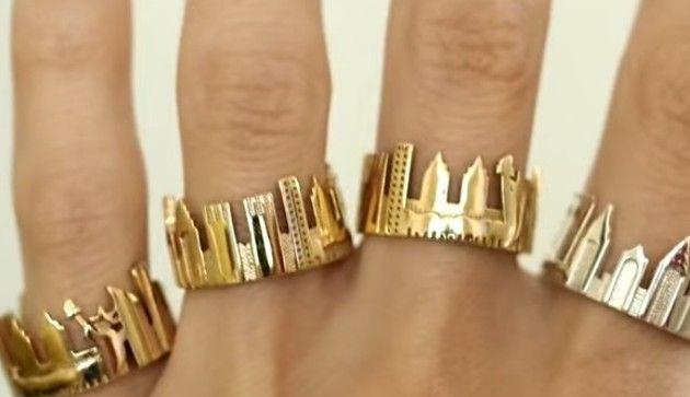 【動画】 ニューヨークの街並みをそのまま切り取ったような美しい指輪!!
