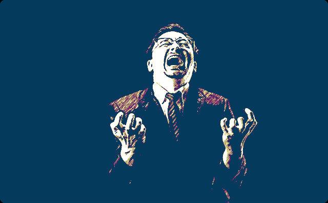 絶叫する男