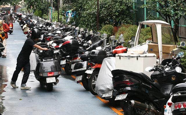 バイクの駐輪問題