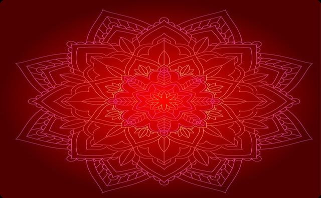 赤い曼荼羅