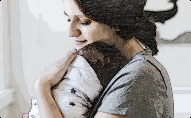 赤ちゃんと母