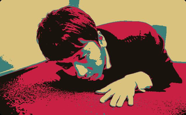 倒れている男性