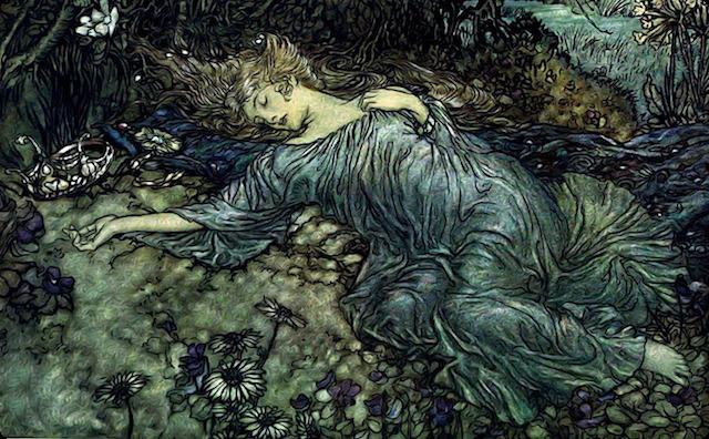 森の中の女