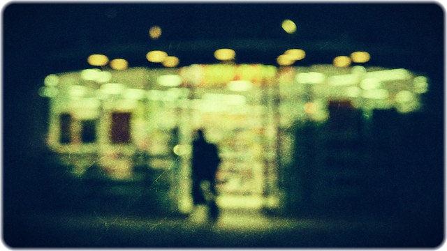 深夜のコンビニ