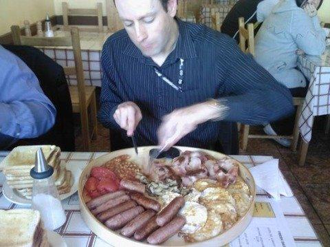 山盛りの朝食
