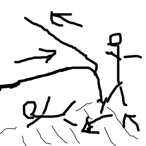 エスカレーター図