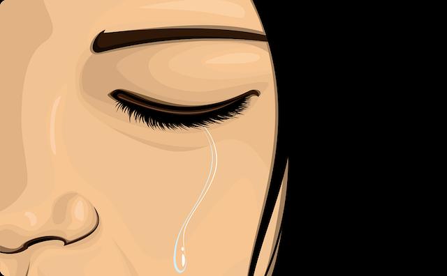 ボロボロと泣く