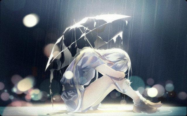悲しみに打ちひしがれた女の子