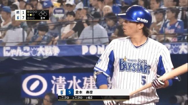 7月倉本寿彦.打率.115(26-3)1本1打点出塁率.115OPS.385